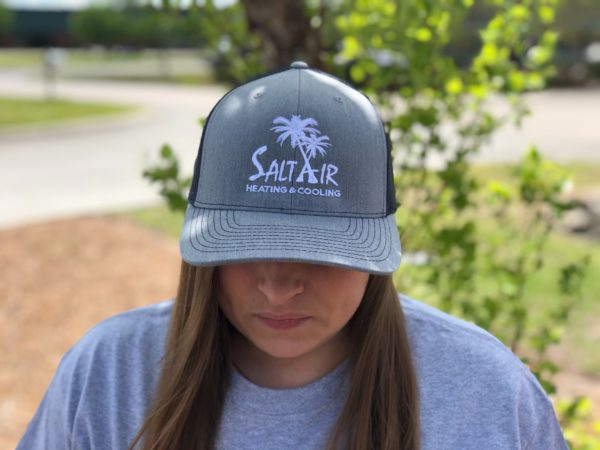 Grey Hat with Navy back
